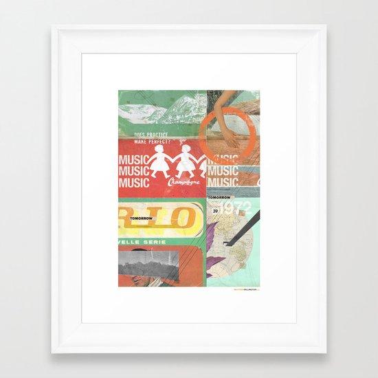 Music, Music, Music Framed Art Print