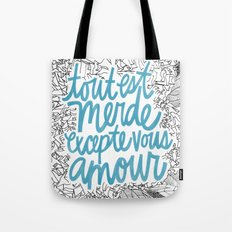 Excepte Vous Amour Tote Bag