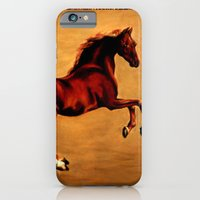 iPhone & iPod Case featuring The Horse, after  George Stubbs by Vargamari