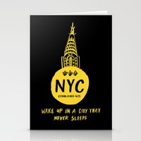 nyc Stationery Cards featuring NYC by Kathryn Nyquist