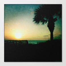The silent sunset Canvas Print