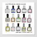 Less Popular Nail Varnishes Canvas Print