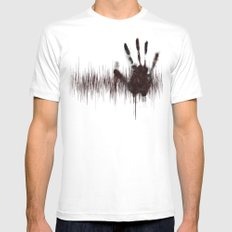 White Noise White Mens Fitted Tee SMALL