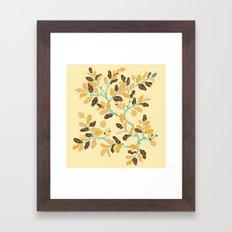 Crisp Autumn Branches Framed Art Print