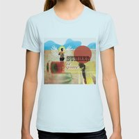 Summer is Gone Womens Fitted Tee Light Blue SMALL