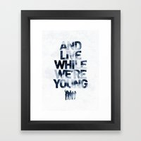 Live While We're Young - 1D Framed Art Print