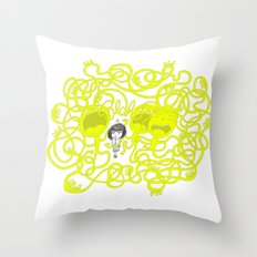 Blah, Blah, Blah Throw Pillow