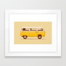 Yellow Van Framed Art Print