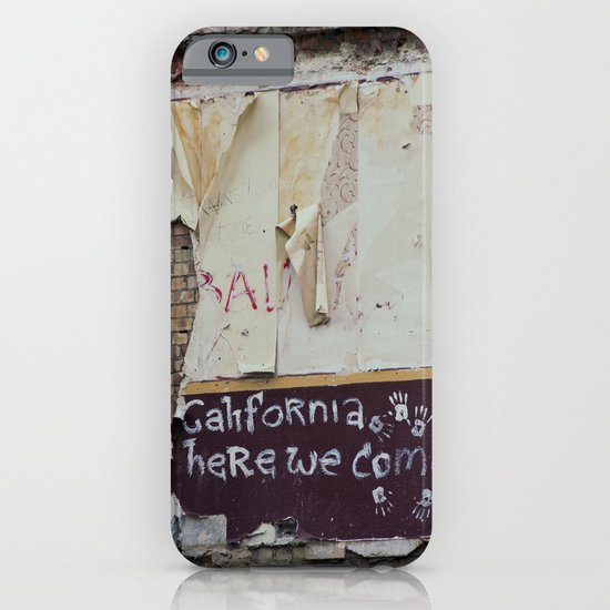 off to galifornia... iPhone & iPod Case
