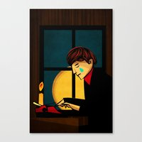 The Crying Writer Canvas Print