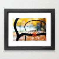 Wet Autumn Framed Art Print