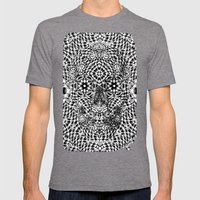 Skull VII Mens Fitted Tee Tri-Grey SMALL
