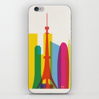 Shapes of Tokyo. Accurate to scale. iPhone & iPod Skin