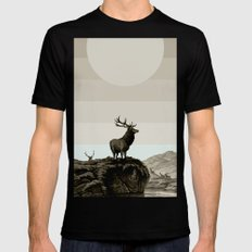 Dusk Mens Fitted Tee SMALL Black