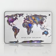 Star Map. Never Stop Exp… Laptop & iPad Skin