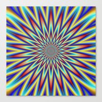Red Blue And Yellow Supe… Canvas Print