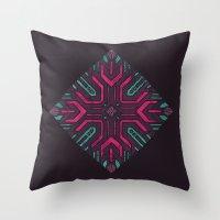 Neon Diamond Throw Pillow
