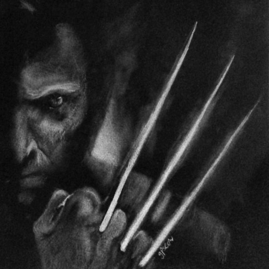 X-Men Logan/Wolverine Black & White Drawing