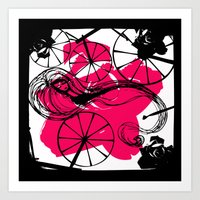 Briar Rose with Spinning Wheels Art Print