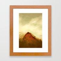 Big Sky and Barn Framed Art Print