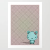 kawaii Bear Art Print