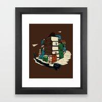 Book City Framed Art Print