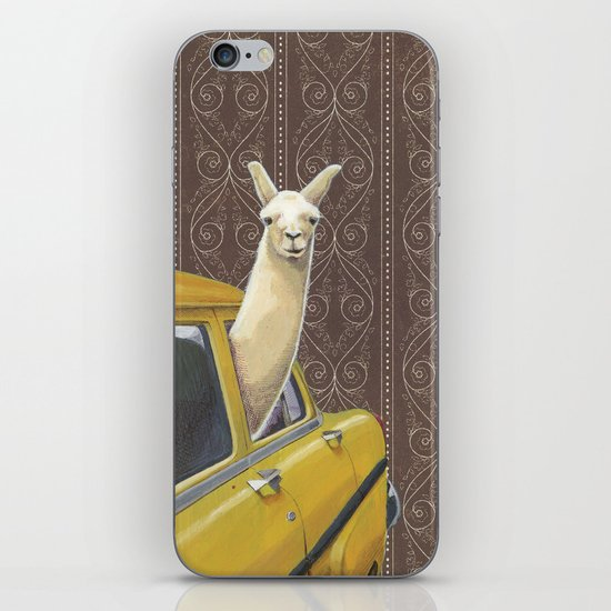 Taxi Llama iPhone & iPod Skin