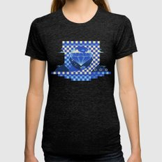 Chaos Emerald Womens Fitted Tee Tri-Black SMALL