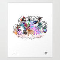 Giddy-Up Fairytale Cowgirl Characters Art Print