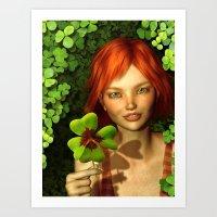 Lucky Charm Fairy Art Print