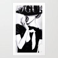 VOGUE MONO Art Print