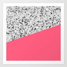 Granite and Pink Art Print