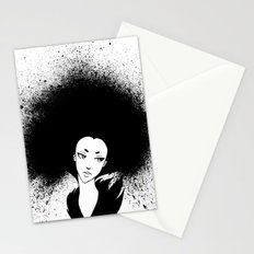 Inky Afro Stationery Cards