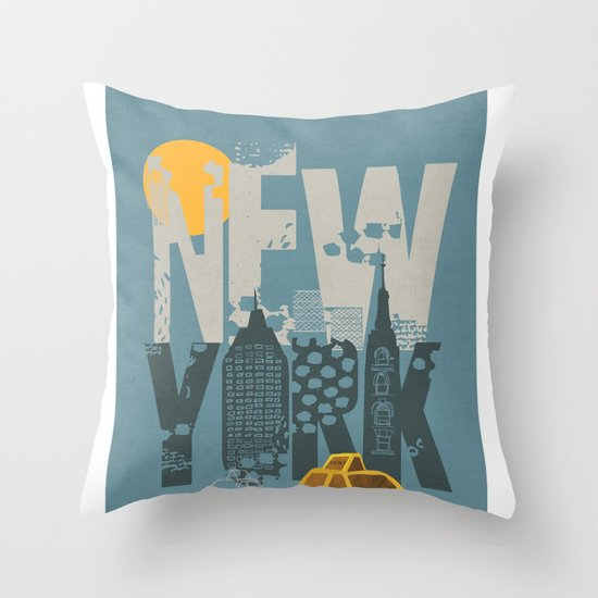 New York! New York! Throw Pillow