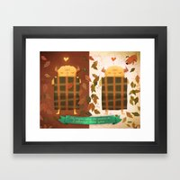 Sleeping Monster Framed Art Print