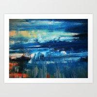 Sky And Sea Reflection A… Art Print