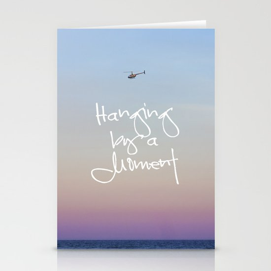 Hanging by a Moment Stationery Card