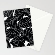 Sweet Leafs: Black White Stationery Cards
