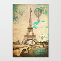 Vintage Eiffel Tower Paris Canvas Print