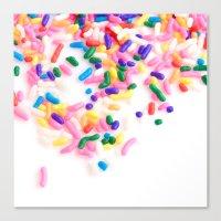 Ice Cream & Sprinkles Canvas Print