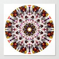 Donkey Flower Kaleidosco… Canvas Print
