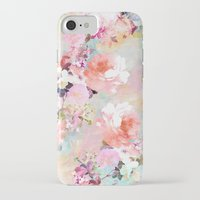 retro iPhone & iPod Cases featuring Love of a Flower by Girly Trend
