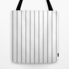 Vertical Lines (Silver/White) Tote Bag