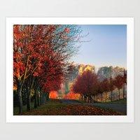 Autumn Ohio Country Road… Art Print