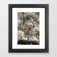the eruption... Framed Art Print