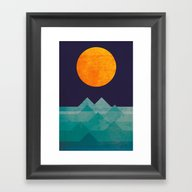 Framed Art Print featuring The Ocean, The Sea, The … by Budi Kwan