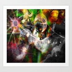 Dreaming...glitches Art Print