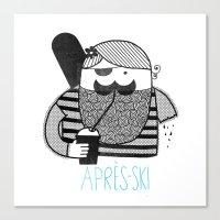 Hilary loves Après-ski Canvas Print