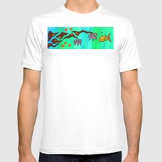 Say Somethin' Mens Fitted Tee SMALL White