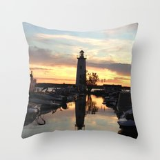 Sylvan Lake Lighthouse Throw Pillow